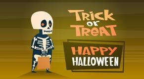 De gelukkige Halloween-van de de Decoratieverschrikking van de Bannervakantie van de de Partijgroet van het de Kaart Leuke Beeldv Royalty-vrije Stock Foto