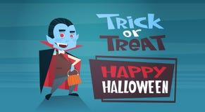 De gelukkige Halloween-van de de Decoratieverschrikking van de Bannervakantie van de de Partijgroet van het de Kaart Leuke Beeldv Stock Fotografie