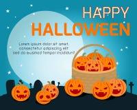 De gelukkige Halloween-vectorillustratie van de Affichepartij Vector Illustratie