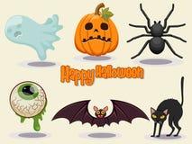De gelukkige Halloween-vectorillustratie van het pictogramontwerp Stock Afbeeldingen