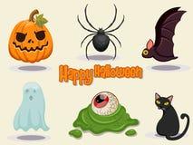 De gelukkige Halloween-vectorillustratie van het pictogramontwerp Royalty-vrije Stock Afbeeldingen