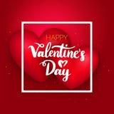 De gelukkige Harten van de Valentijnskaartendag Stock Foto