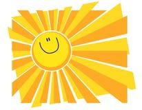 De gelukkige het Glimlachen Achtergrond van de Zomer van de Zon Royalty-vrije Stock Fotografie