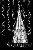 De gelukkige Hoed van de Partij van het Nieuwjaar stock foto