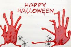 De gelukkige Houten Achtergrond van Halloween met Copyspace Royalty-vrije Stock Afbeeldingen