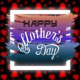 De gelukkige illustratie van de de hand van letters voorziende kaart van de moedersdag vector illustratie
