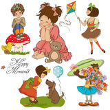 De gelukkige inzameling van ogenblikkenpunten Royalty-vrije Stock Afbeeldingen
