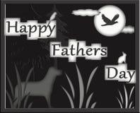 De gelukkige Jagers die van de Dag van Vaders Notecard begroeten Stock Foto's