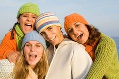 De gelukkige jeugd Stock Foto