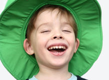 De gelukkige jongen Stock Afbeelding