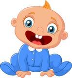 De gelukkige jongen van de beeldverhaalbaby Stock Afbeelding