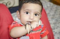 De gelukkige jongen van de zuigelingsbaby Royalty-vrije Stock Foto