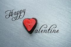 De gelukkige Kaars van de Valentijnskaart Royalty-vrije Stock Afbeeldingen