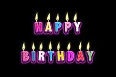 De gelukkige Kaarsen van de Verjaardag Stock Afbeelding