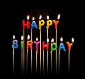 De gelukkige Kaarsen van de Verjaardag stock foto