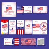 De gelukkige kaart de Verenigde Staten van Amerika, 4 van de onafhankelijkheidsdag Juli Royalty-vrije Stock Fotografie