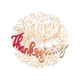 De gelukkige Kaart van de Dankzegging Royalty-vrije Stock Afbeelding