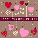De gelukkige Kaart van de Dag van Valentijnskaarten [2] Stock Foto's