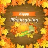 De gelukkige Kaart van de Dankzegging Stock Afbeeldingen