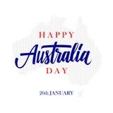 De gelukkige kaart van de de Daggroet van Australië met kalligrafisch element Creatieve typografie voor vakantiegroeten Royalty-vrije Stock Afbeeldingen
