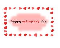 De gelukkige kaart van de de daggroet van Valentijnskaarten Royalty-vrije Stock Fotografie