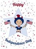 De gelukkige Kaart van de de Onafhankelijkheidsdag van de V Stock Foto