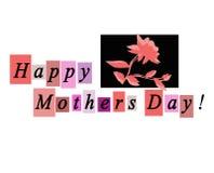 De gelukkige Kaart van de Groet van de Dag van Moeders Notecard Stock Fotografie