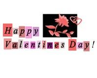De gelukkige Kaart van de Groet van de Dag van Valentijnskaarten Notecard Royalty-vrije Stock Foto