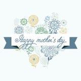 De gelukkige kaart van de moeder` s dag - illustratie Stock Afbeelding
