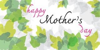 De gelukkige kaart van de mother'sdag Royalty-vrije Stock Afbeelding