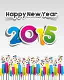 De gelukkige Kaart van de Nieuwjaar 2015 Groet Stock Foto