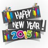 De gelukkige Kaart van de Nieuwjaar 2015 Groet Stock Foto's
