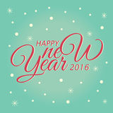 De gelukkige Kaart van de Nieuwjaar van letters voorziende Groet Vector illustratie Royalty-vrije Stock Foto