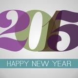 De gelukkige Kaart van de Nieuwjaargroet - 2015 Stock Foto