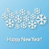 De gelukkige kaart van de Nieuwjaargroet Royalty-vrije Stock Afbeeldingen