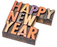 De gelukkige kaart van de Nieuwjaargroet Stock Foto
