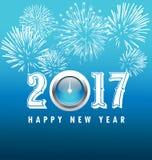 De gelukkige kaart van de Nieuwjaargroet 2017 Stock Fotografie