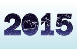 2015 de Gelukkige kaart van de Nieuwjaaruitnodiging Stock Afbeeldingen