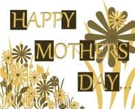De gelukkige Kaart van de Nota van de Groet van de Dag van Moeders Royalty-vrije Stock Fotografie
