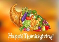 De gelukkige kaart van de Thanksgiving daygroet Stock Fotografie