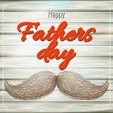 De gelukkige kaart van de Vaders Dag met snor Eps 10 royalty-vrije illustratie