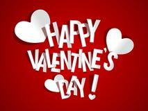 De gelukkige kaart van de Valentijnskaartendag Stock Foto's