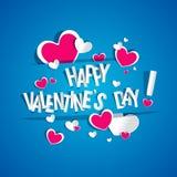 De gelukkige kaart van de Valentijnskaartendag Stock Afbeeldingen