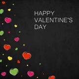 De gelukkige kaart van de valentijnskaartendag Stock Foto