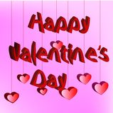 De gelukkige kaart van de valentijnskaartendag Stock Fotografie