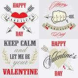 De gelukkige kaart van de valentijnskaartendag Royalty-vrije Stock Foto's