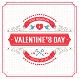 De gelukkige kaart van de valentijnskaartendag Royalty-vrije Stock Afbeeldingen