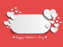 De gelukkige kaart van de Valentijnskaartendag met tekstruimte Stock Foto's