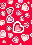 De gelukkige kaart van de valentijnskaartendag Vector Royalty-vrije Stock Foto's