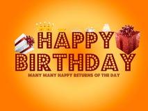 De gelukkige Kaart van de Verjaardag Royalty-vrije Stock Foto